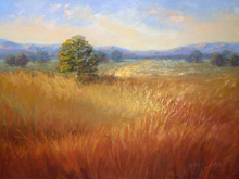 Landscape painting by Carolyn Counnas